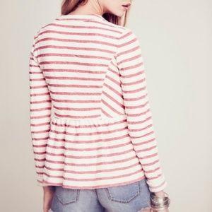 Free People Sweaters - Free People Peplum Striped Zipped Jacket